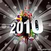 Carte joyeuse annee 2010 thème evenements