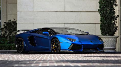 Lamborghini Aventador Lp700-4 Blue Supercar Front View