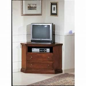Porta tv ad angolo stile classico in legno massello cm 70x73x69h CollyShop