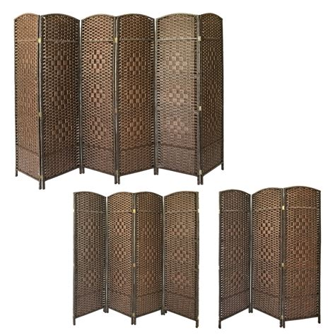 Hand Made Weave Wicker Folding Room Divider Privacy Screen