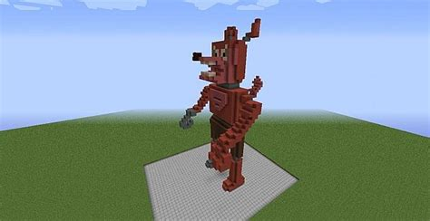 Foxy The Fox Statue Minecraft Project
