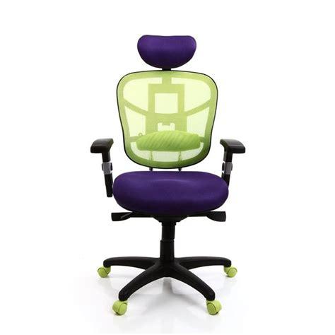 bureau violet fauteuil de bureau ergonomique violet et anis achat