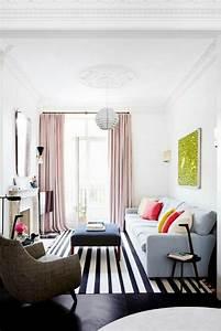 Schwarz Weißer Teppich : einrichtungsideen f rs wohnzimmer in 45 fotos ~ Orissabook.com Haus und Dekorationen