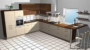 Küchen L Form Poco : kitchenclick musterk che l k che in holz optik mit theke ausstellungsk che in von ~ Markanthonyermac.com Haus und Dekorationen