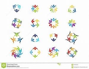 Logo Team Work Education Symbol  People Celebration Icon