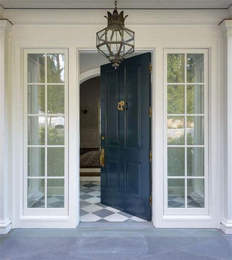 blue front door peacock blue front door with brass door knocker and