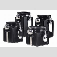 Download Kitchen  Black Canister Sets For Kitchen With
