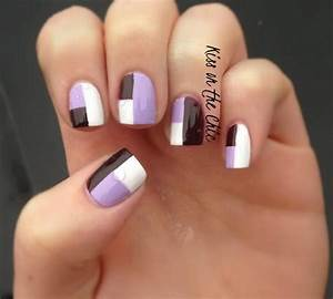 Face Designs Cool Color Block Nail Designs Hative