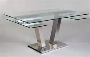 table repas design verre extensible vinci eda concept