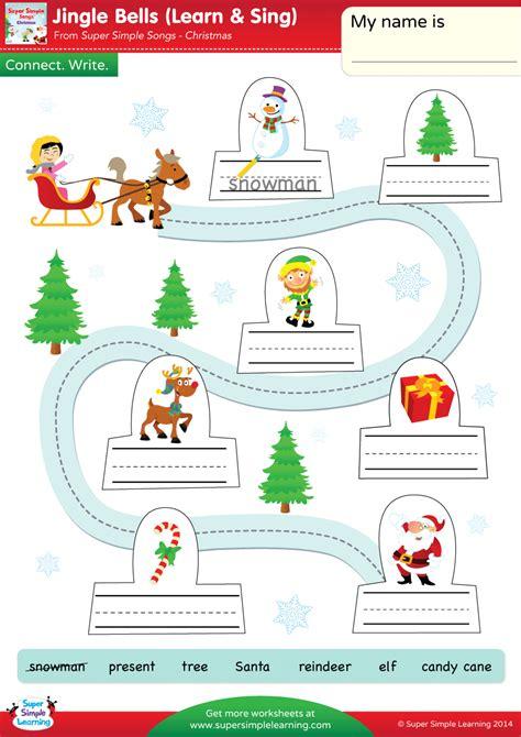 jingle bells worksheet connect write super simple