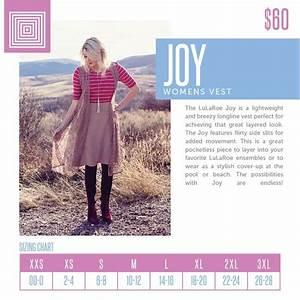Lularoe Joy Vest Size Chart In 2020 Lularoe Joy Lularoe