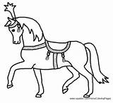 Circus Coloring Horse Pony Animals sketch template