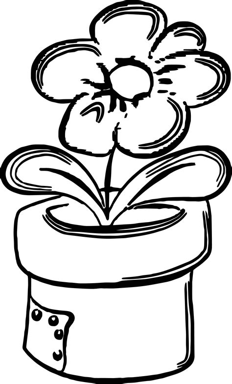 Spring Outdoor Flower Coloring Page Wecoloringpagecom
