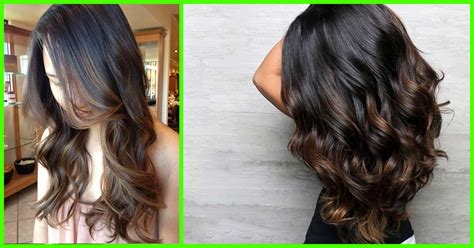 balayage hairstyles  black hair
