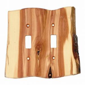 Rustic, Light, Switch, Covers, Rustic, Juniper, Wood, Double, Switch, Cover