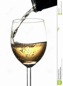 Pouring White Wine Into Glass Royalty Free Stock Image ...
