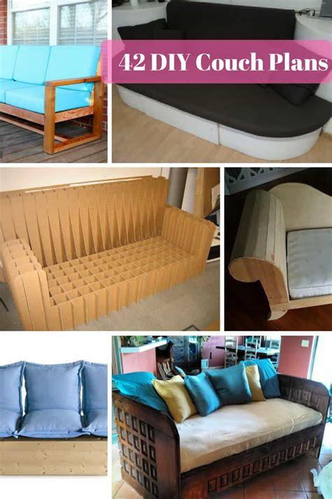 diy sofa chair 42 diy sofa plans free mymydiy inspiring diy projects