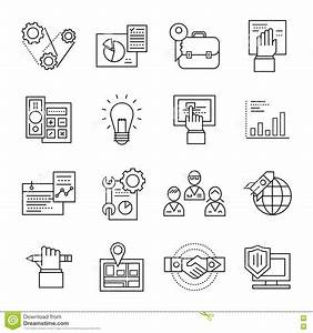 Assembly Line Icon Set stock vector. Image of packaging ...