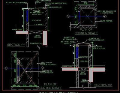 typical shaft covering detail autocad dwg plan  design
