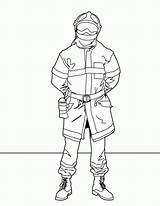 Coloring Fire Fighter Firefighter Comments sketch template
