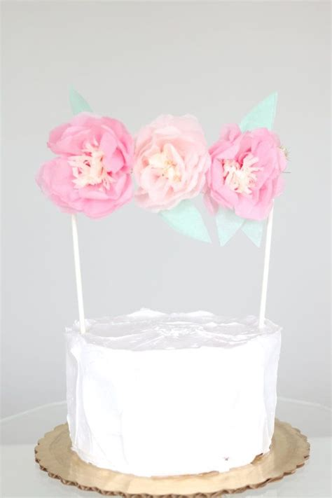 floral cake topper by blush bazaar flower colors are