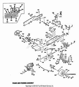 Troy Bilt 13101 16hp Gtx Hydro Garden Tractor  S  N 131010100101  Parts Diagram For Frame  U0026 Steering