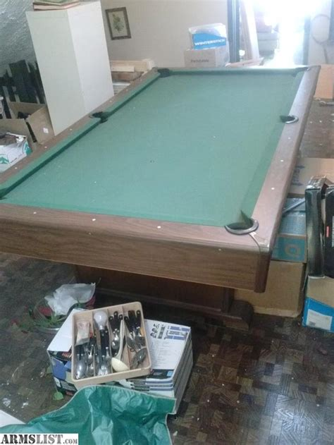 tabletop pool table full size armslist for trade full size slate pool table