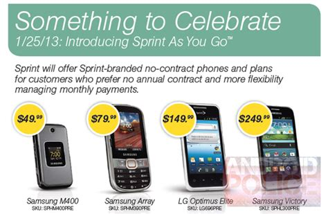 sprint plans for smartphones sprint expected to launch prepaid service on january 25
