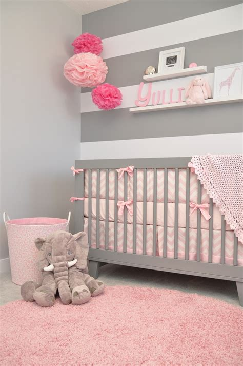d o chambre b adorable gray pink and white modern chic nursery