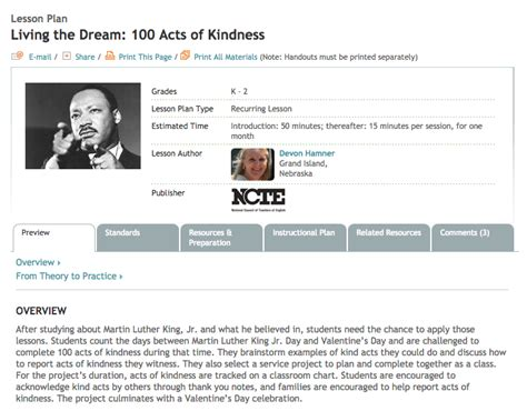 100 Acts Of Kindness Lesson Plan For