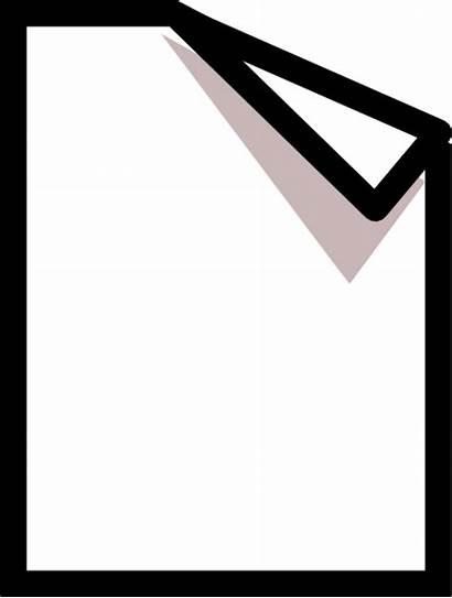 Paper Clipart Clip Folded Corner Document Folding