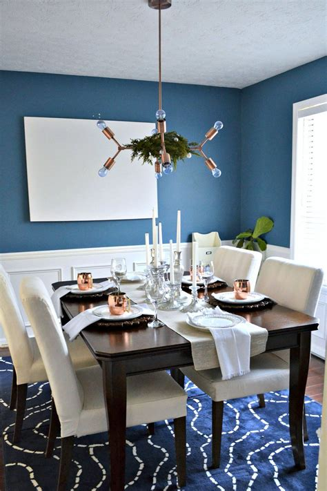 neutral christmas holiday home   dining room