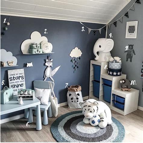 chambre enfants garcon deco chambre garcon bleu et gris