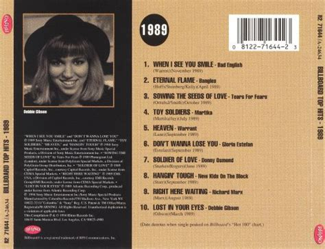 This is our top 40 hip hop songs of 1989. Billboard Top Hits: 1989 - Various Artists   Songs, Reviews, Credits   AllMusic