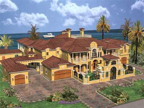 Home Design Level 106 : Cedar Palm Luxury Florida Home Plan 106s-0069
