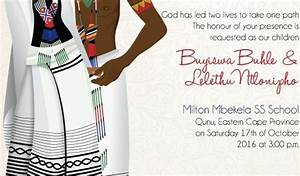 south african xhosa traditional wedding invitation card With xhosa traditional wedding invitations