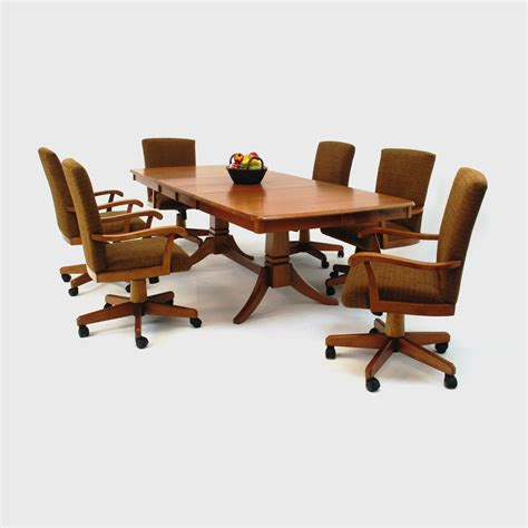 dining table with rolling chairs 47 kitchen table sets with rolling chairs kitchen table