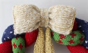 knitted wreath knit crochet