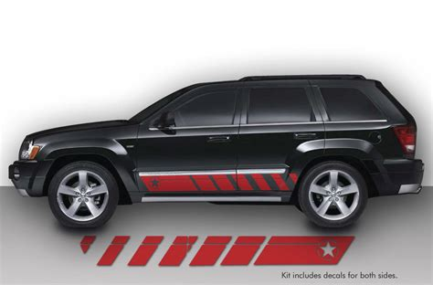 jeep grand cherokee vinyl wrap vinyl decal rocker panel race stripes wrap kit for jeep