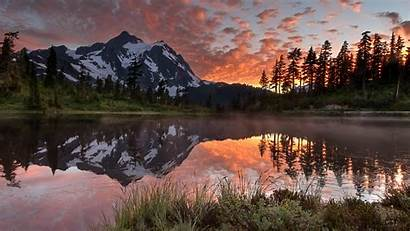 Landscape Mountain Forest Canada Nature Lake River