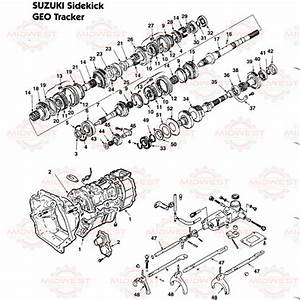 Parts Illustration Suzuki And Geo Tracker 5 Speed Manual