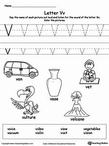 Letter V Printable Alphabet Flash Cards for Preschoolers ...