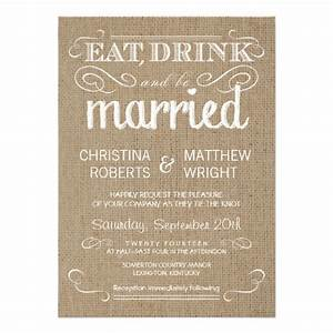 burlap rustic country wedding invitations zazzle With rustic country wedding invitations com