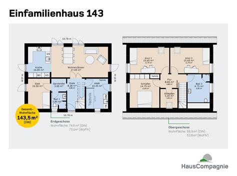Kleines Einfamilienhaus Grundriss by Grundrisse Hauscompagnie