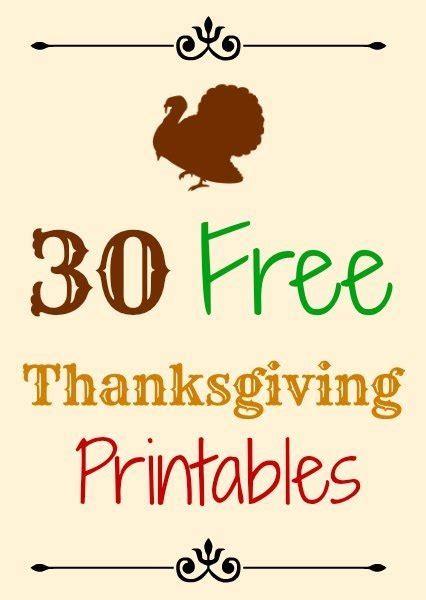 thanksgiving printables thesuburbanmom