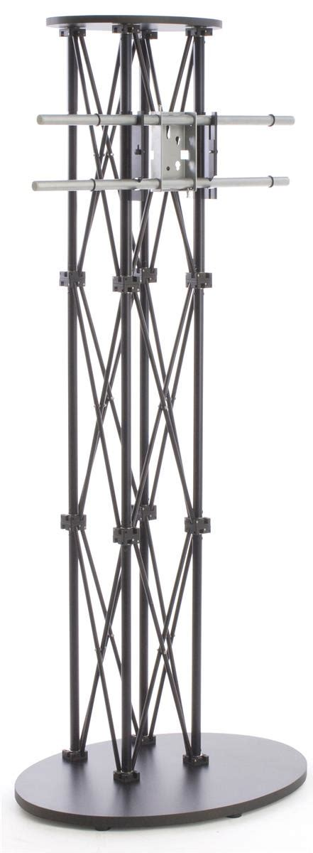black tall standing l lcd tv stands black truss racks for trade shows