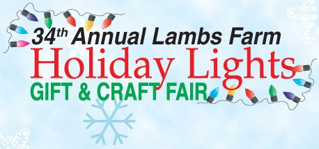 lambs farm holiday lights lamb 39 s farm holiday lights gift craft fair nowyouknow