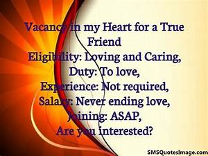 Vacancy in my H... Vacant Heart Quotes