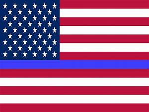 Thin Blue Line USA Flag Poster | Police Life