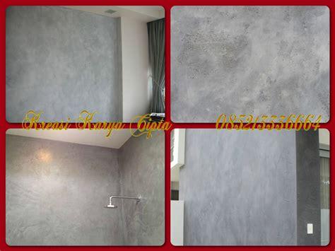 cat dekoratif wash paint fresco stucco motif semen ekspos